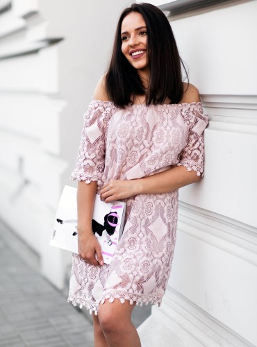 Sukienka LAURYN - pudrowy róż
