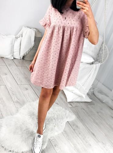 Sukienka BOHO BALI - pudrowy róż