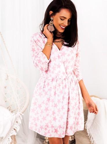 Sukienka STARDUST - pudrowy róż