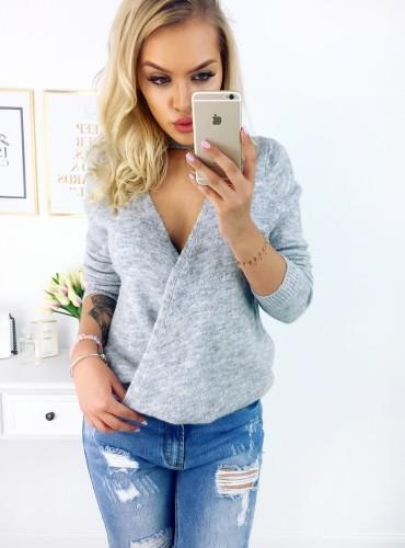Sweterek RILEY - szary