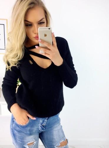 Sweterek NYLA - czarny