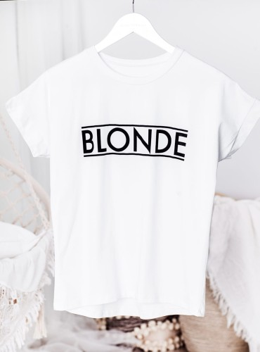 T-shirt BLONDE NEW - biały