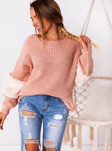 Sweterek SHARON - pudrowy róż
