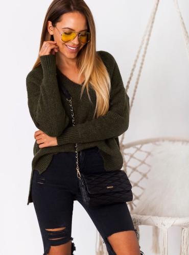 Sweterek MIREYA - khaki