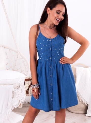 Sukienka JUDITH - jeansowa
