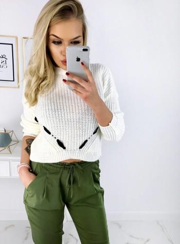 Sweterek CODA - kremowy