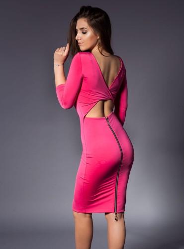 Sukienka SEXI PINK BEZ PLECÓW