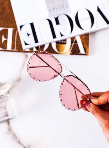 Okulary 16 - like LV różowe