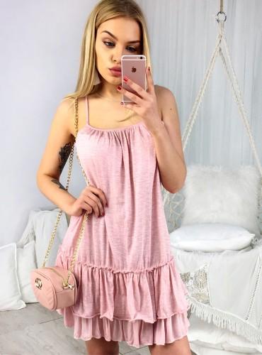 Sukienka LILIA - pudrowy róż