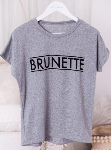 T-shirt BRUNETTE - szary