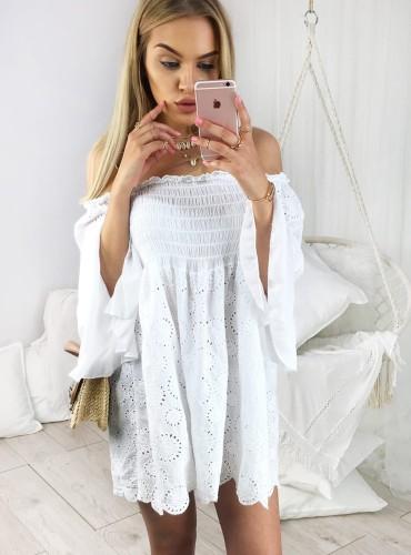 Sukienka BOHO CINDY - biała