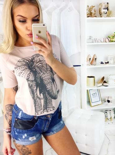 T-shirt ELEPHANT - cappuccino
