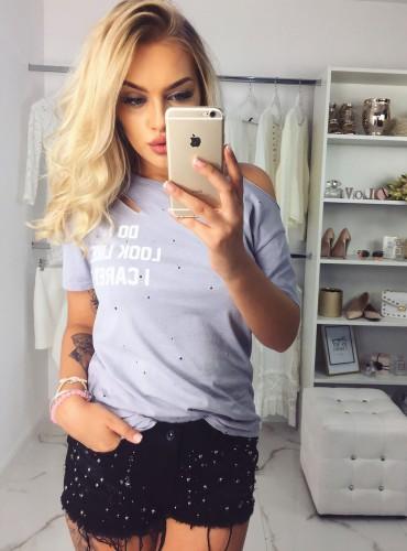 T-shirt CARELESS - szary