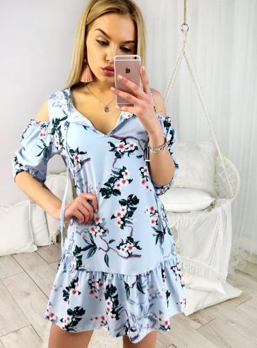 Sukienka TATIANA - niebieska