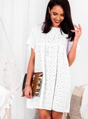 Sukienka BOHO BALI - biała