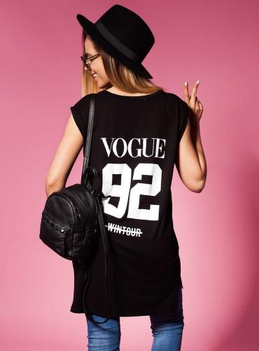 T-Shirt VOGUE NUMBER BLACK