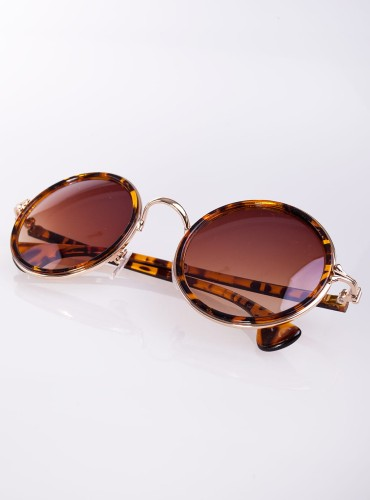OKULARY 1 BROWN/GOLD