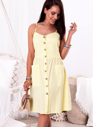 Sukienka GOLDA - żółta