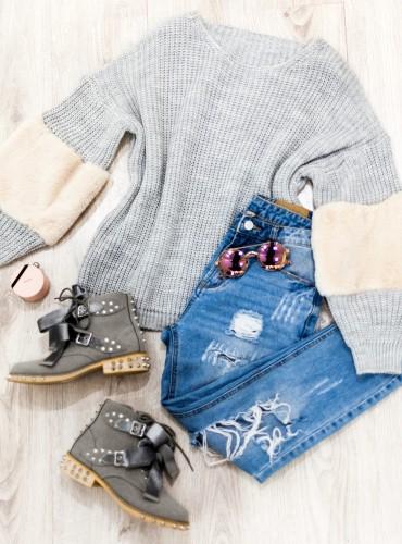 Sweterek SHARON - szary