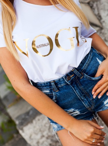 T-Shirt VOGUE LOOK WHITE  (1)