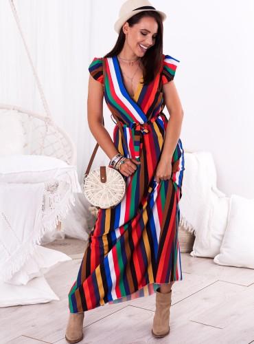 Sukienka MAXI INES - multikolor