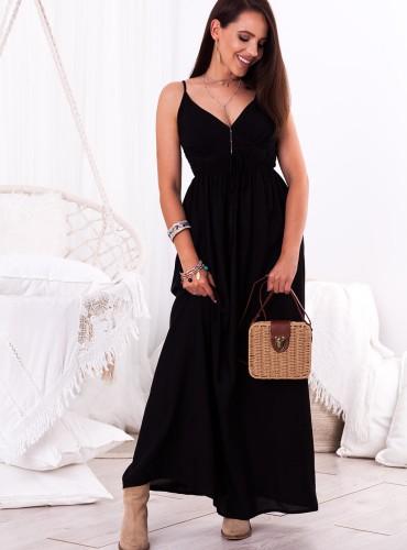 Sukienka MAXI NELLA - czarna