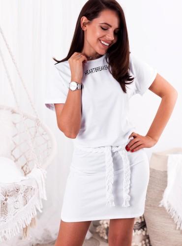 Sukienka HEARTBREAKER - biała