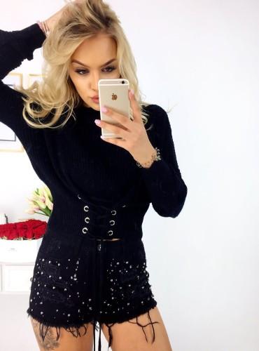 Sweterek Dayami - czarny