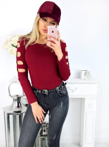 Bluzeczka ADELINE - bordowa