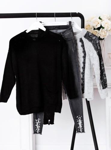 Sweterek POCKET - czarny