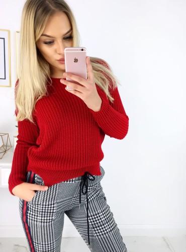 Sweterek Audrey - czerwony