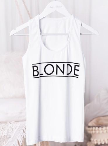 Bokserka BLONDE - biała