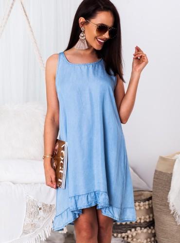 Sukienka na ramiączkach LESLIE - jasny jeans