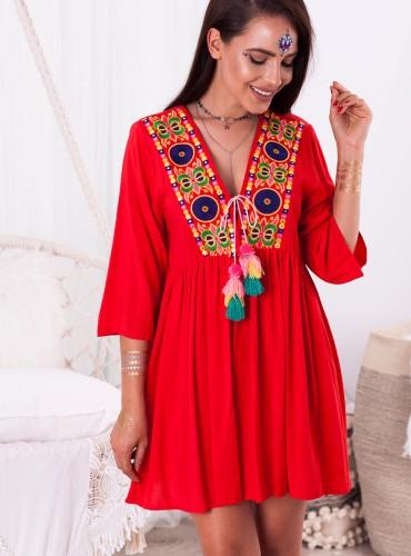 Sukienka AUGUS - czerwona
