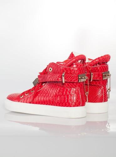 SNEAKERSY SNAKE - czerwone