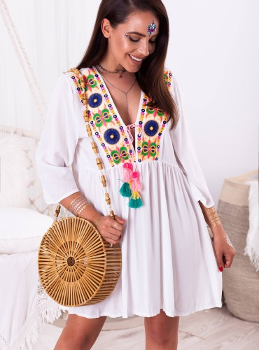 Sukienka AUGUS - biała
