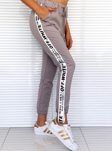 Spodnie COMBAT - szaro białe