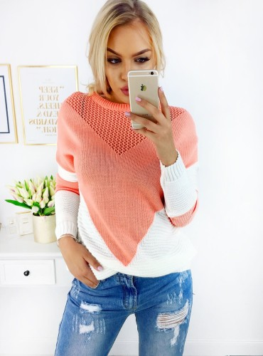 Sweterek SANDY - brzoskwiniowy