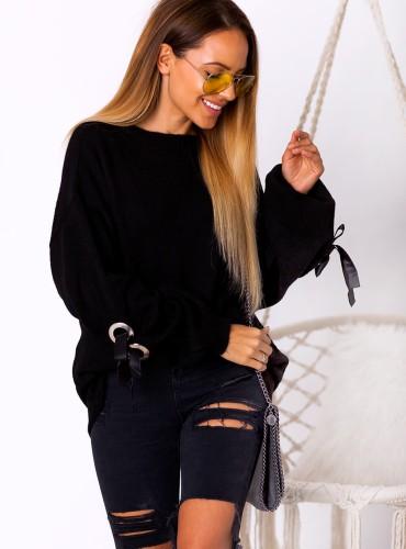 Sweterek Roselia - czarny