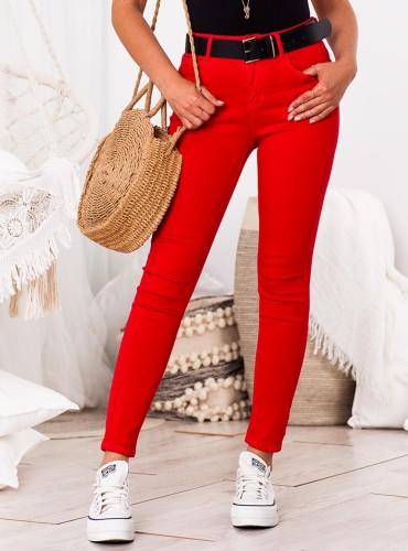 Spodnie PUSH UP - czerwone