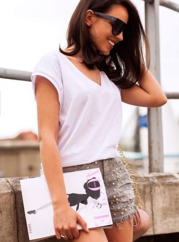 T-shirt BASIC - biały