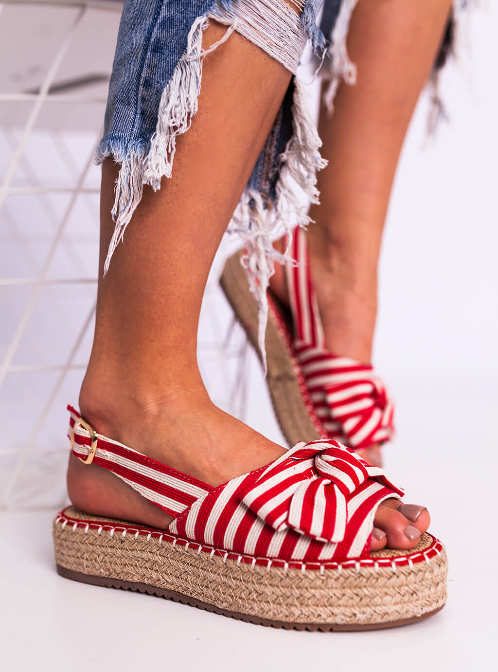 695e01793d Espadrylles cipő Nida - piros SELFIEROOM