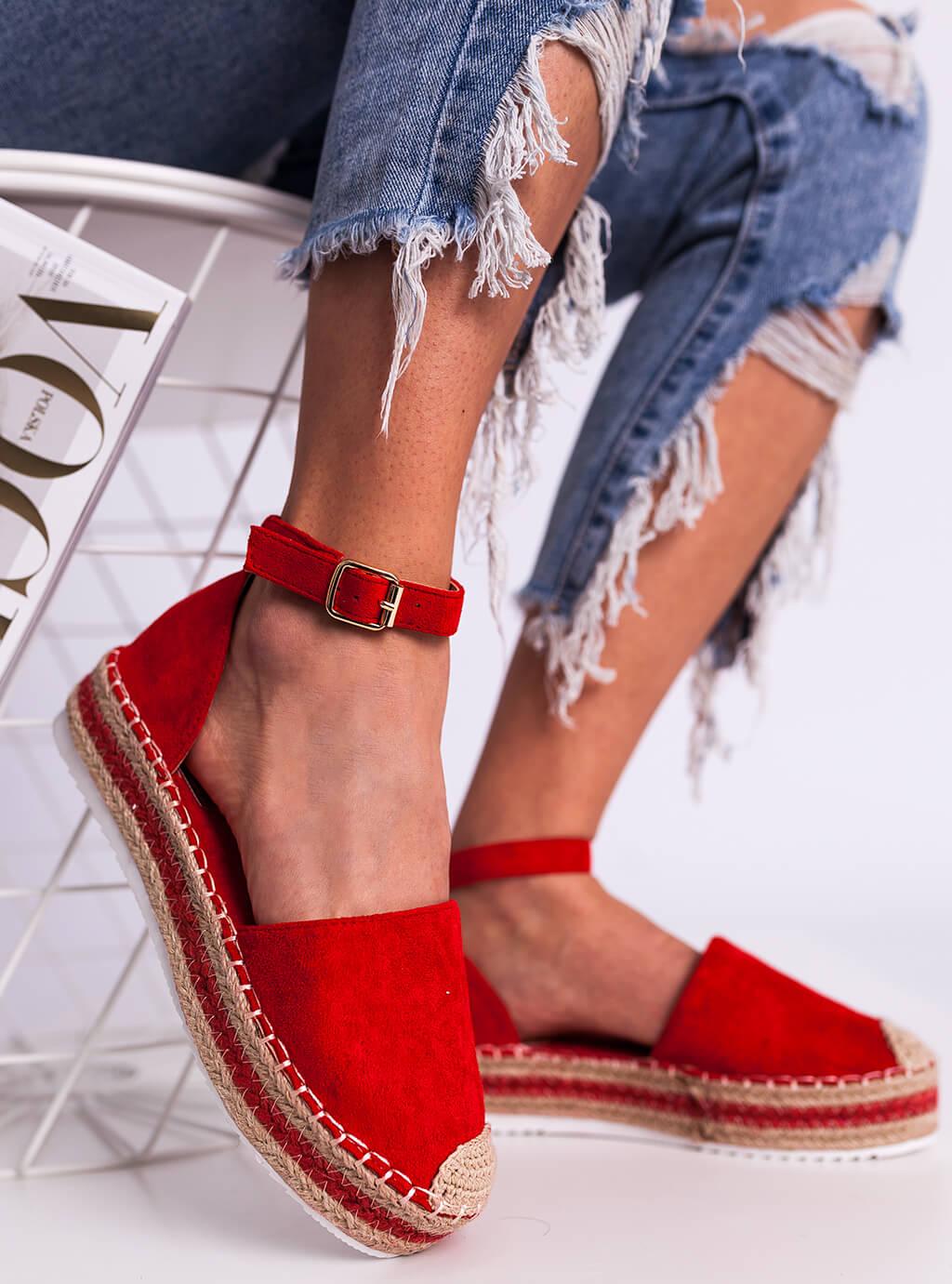 bedb31af24 Espadryles cipő Kelly - piros SELFIEROOM
